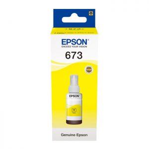 Epson T6734 Yellow Original Ink Bottle (C13T67344A) 70ml