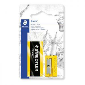 Staedtler Blistercard Containing 1 Eraser (526 N 20) and 1 Sharpener