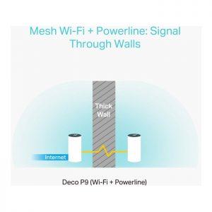 TP-Link Deco P9 AC1200+AV1000 Whole Home Hybrid Mesh WiFi System (3 Pack)