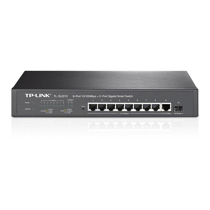 TP-Link TL-SL2210 JetStream16-Port Gigabit Smart Switch with 2 SFP Slots